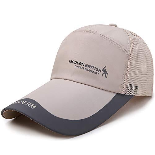 Gorra de béisbol de Verano para el Sol Sombrero de Malla Borde Curvado cómodo y Transpirable Sombrero de Ocio al Aire Libre