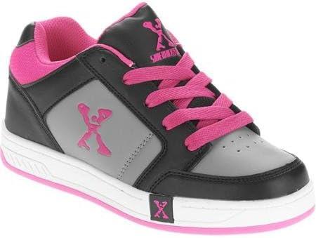 Sidewalk Sports Street Kids' Wheeled Skate Shoe; Color Black/Pink