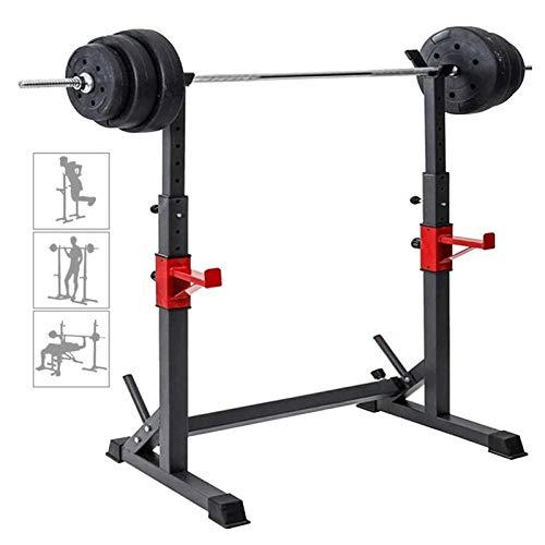 GJXJY Ajustable Barbell Rack Jaula Sentadillas Bodybuilding Banca Press Rack Pesas para Trabajo Pesado Barra Squat Rack Stands Olympic Bar Bench Home Gym Fitness Squat Stands