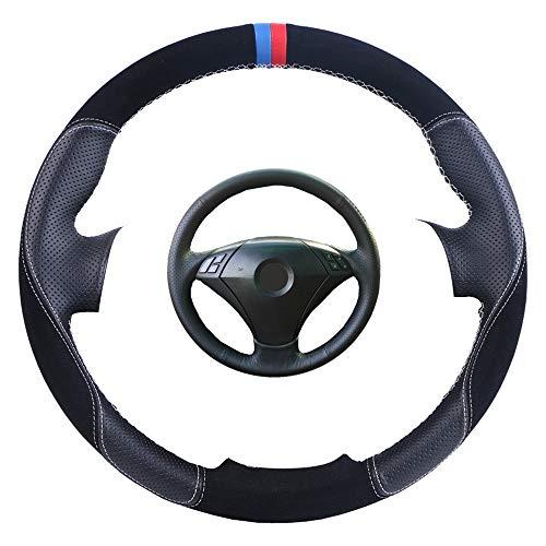 DANDELG Cubierta de Cuero del Volante del cocheEnvoltura de la dirección, para BMW 530 523 523li 525 520li 535 545i E60