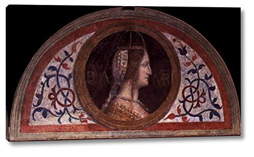 "Portrait of Bianca Maria Visconti by Bernardino Luini - 11"" x 20"" Gallery Wrap Canvas Art Print - Ready to Hang"