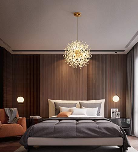 Dellemade Sputnik Kronleuchter 8-Licht Golden Luxuriöse Pendelleuchte für Schlafzimmer, Wohnzimmer, Esszimmer - 3
