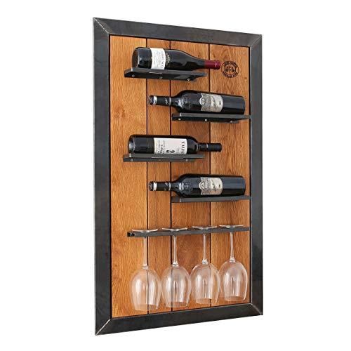 Original BestLoft® Weinregal Amber aus Eiche Wandregal Original Louis Martel Flaschenregal Weinschrank (Maße: Breite 60cm x Höhe 100xm x Tiefe 10cm)