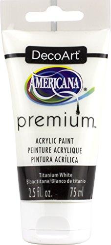 Premium Acrylique Artiste Peinture, Acrylique, Blanc de Titane, 3.8 x 3.8 x 13.7 cm