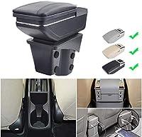 H ONDA CITY 2015-2017 Armrest Box Car Centerコンソール収納ボックス箱の残り充電機能7 USBポートダブルスペース (Color : Grey)