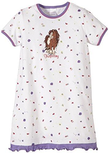 Schiesser Mädchen Sleepshirt 1/2 Nachthemd, Weiß (Weiss 100), 92 (Herstellergröße: 092)