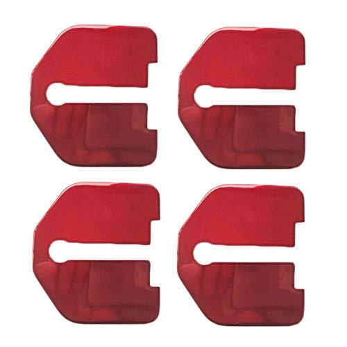 WCXTY Cubiertas de Cerradura de Puerta,Acero Inoxidable Accesorios,4Ps Automóvil Protección Interior Cubierta de Cerradura de Puerta,para Volvo XC40/60 90/S80L/90/60L/V40 90/C30,Red