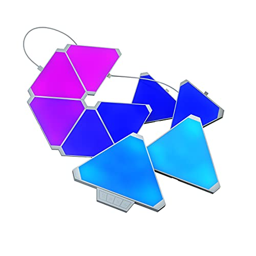 8WASAI Triangle Lights RGB Colorful Wall-Mounted LED Light APP Controllable Triangle Gaming Lights...