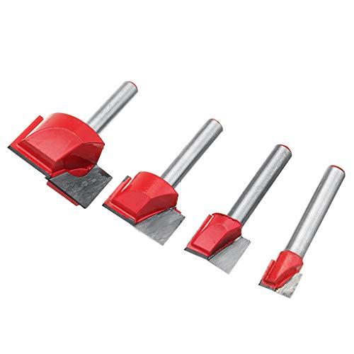 Lorsoul 4PCS / Set 10/15/22 / 30mm Abricht Bodenreinigungs Holz Fräsen CNC-Fräser Holzbearbeitung Werkzeug