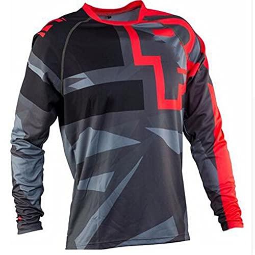 Camiseta de Manga Larga para Ciclismo de Montaña, Motocross Jersey, Camiseta de Enduro para Descenso, Ropa para Bicicleta de Montaña (TYP-5,3XL)