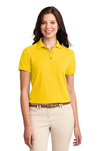 Port Authority L500 Ladies Silk Touch Polo - Sunflower Yellow - M