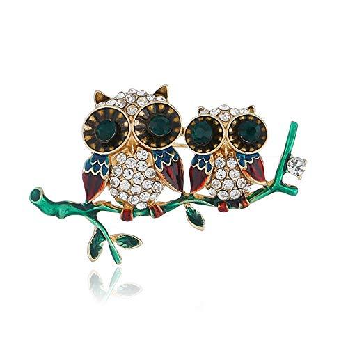 Defantia Brosche der Frauen reizende Tier-Eule und Vogel-Kostüm-Zusatz-Eulen-Kaffee