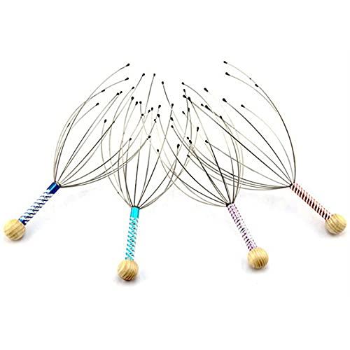 #N/D Garras de Masaje para rascar la Cabeza, masajeador de Cabeza de Pulpo, rascador de Cuero cabelludo, Garra de Masaje, pequeño artefacto, Extractor de extracción de Alma