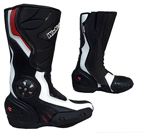 Stivali stivaletti in pelle per moto o minimoto con protezioni DONNA o BAMBINO (31 EU)