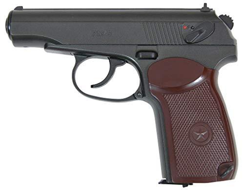 PM49 Borner Pack Pistola de balines (perdigones Bolas de Acero BB's). Arma de Aire comprimido CO2 4,5mm. Tipo Makarov PM (Full Metal). Potencia: 2.87 Julios.
