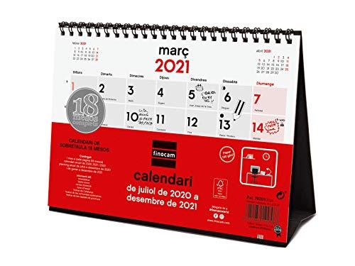 Finocam - Calendario de Sobremesa 18 Meses 2020-2021 S - 210x150 Mes Vista Catalán