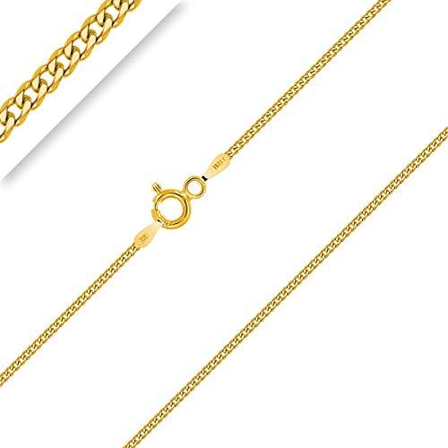 PLANETYS - Kinder und Baby Panzerkette Diamantiert 925 Sterling Silber 18K Vergoldet Kette - Halskette - 1.2 mm Breite Längen 36 cm