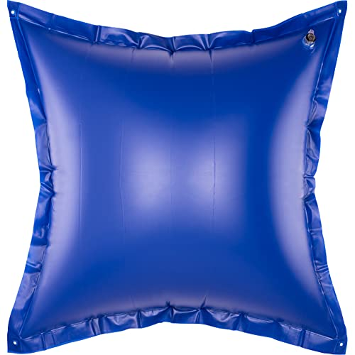 bonsport XXL Poolkissen Winter - Luftkissen 118x118cm Pool Kissen groß - Poolpolster Winterkissen, blau