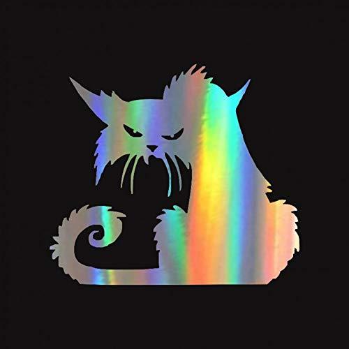WYJ Autoaufkleber 2 Stücke Halloween Terror Katze Fenster Aufkleber Lustige Kreative Cartoon Auto Aufkleber 14,6 * 12,9 cm