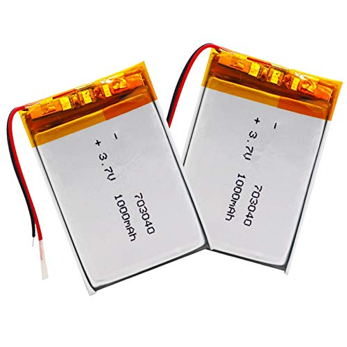 Grehod 3.7v 1000mAh lithium battery 703040 with rechargeable lithium battery MP3 MP4 mobile phone DVD laptop power bank 2pcs