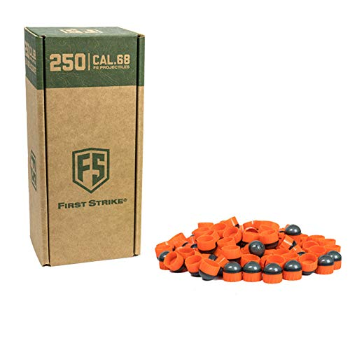 First Strike Tiberius Arms Paintballs (Blue/Orange Shell/Orange Fill, 40 Count)