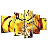 COCOCI 5 Piezas Material Tejido No Tejido ImpresióN ArtíStica Imagen GráFica Decoracion De Pared 5 Piezas Impresiones En Lienzo Naru Sasuke Uzumaki Sage Mode Cuadros Decoracion Salon Grandes