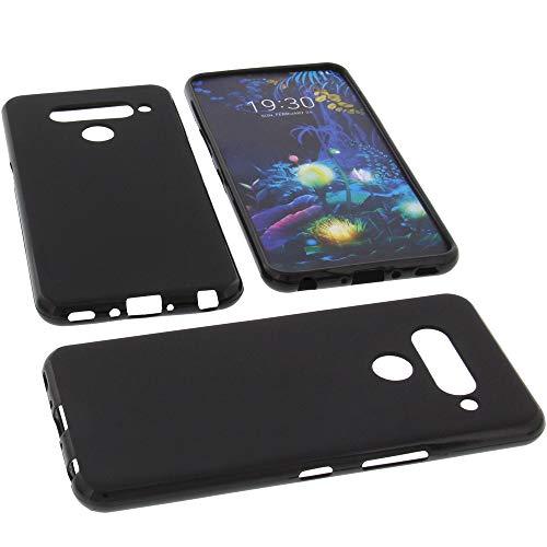 foto-kontor Tasche für LG V50 ThinQ 5G Hülle Gummi TPU Schutz Handytasche schwarz