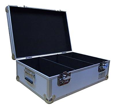 "7"" Vinyl Record Aluminium DJ Flight Carry Case in Silver Holds 500 Vinyl Records Tough Strong Box"