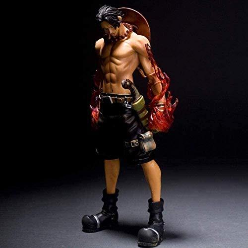 Figura de Anime Figura de Anime Una Pieza Acción Puño de Fuego Versión de Lucha Exquis Ornements Poupées PVC 25cm Figura de acción