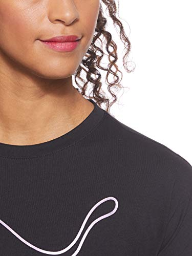 PUMA Women Cat Tee T-Shirt - Black, Small