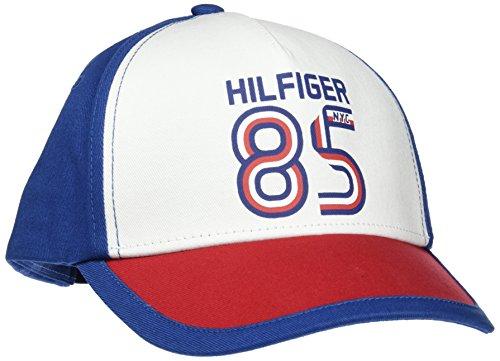 Tommy Hilfiger Baby-Unisex Hilfiger 85 Cap Kappe, Blau (Limonges-White 902), XL