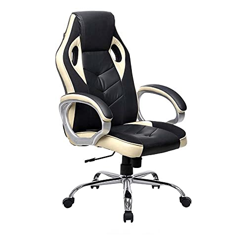 Gaming Ergonomic Chair in Black Russian Colour with Pavlova Outline by Furnlamp (Heavy Metal Base)