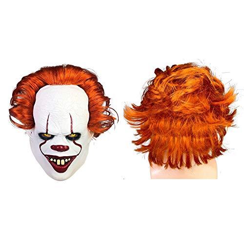 G-wukeer Máscara De Miedo De Halloween, Máscara De Mascarada De Máscara De Disfraces De Payaso De Cosplay para Fiestas De Disfraces Máscara De Halloween