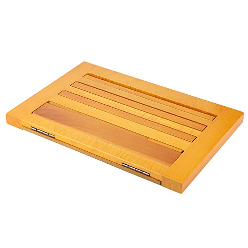 Wooden Book Stand, Adjustable Reading Holder, Folding Book Holder Tray for Book, Tablet, Computer