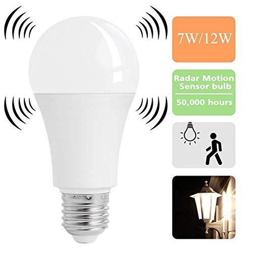 Beautiful Pine, LED-Glühbirnen mit Bewegungssensor, Induktion, Radar, intelligente Sensorlampe mit Bewegungsmelder, Nachtlicht 7w