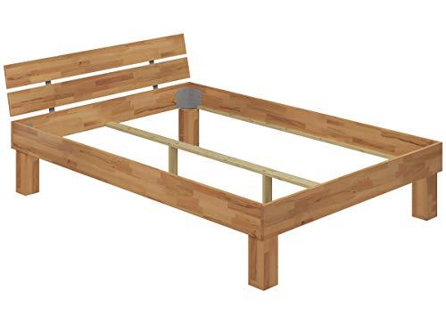 Erst-Holz® Doppelbett Buche 140x200 hohes Massivholzbett Seniorenbett 60.81-14 oR