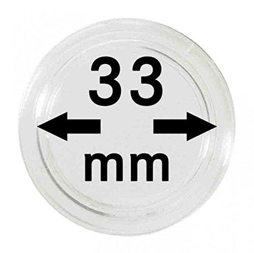 LINDNER Das Original Capsules Monnaies Ø intérieur 33 mm, Paquet de 100