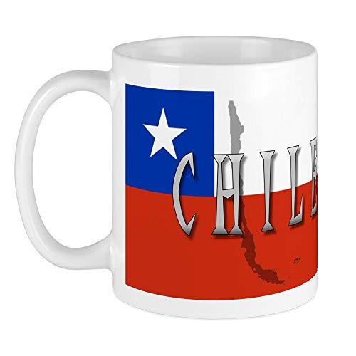 CafePress Kaffeetasse mit Chile-Flagge, weiß, S