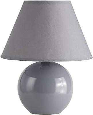 Brilliant AG 61047/63 Lampe à poser, Céramique, E14, 40 W, Gris Fonce