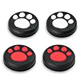 Ermorgen Silicone Thumb Grip Caps Compatible for Nintendo Switch,Switch Lite, Joystick Cover Cap Excellent Touch -White,Red