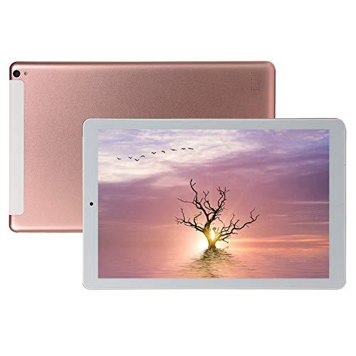 IHGWE Tablet MT6592 Quad Core 1280 * 800 10,1 Zoll IPS-Display Gesichtserkennung 1 + 16G Android 8.1 Dual-SIM-Karte Telefon Tablet 4000mAh, WLAN + Bluetooth (Rosa, 1 PC)