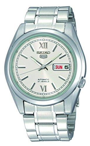 SEIKO Reloj Analógico para Hombre de Automático con Correa en Acero