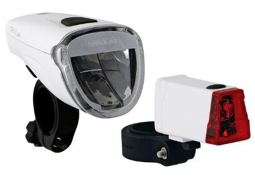 Büchel Batterielampenset Frontlampe Triolux 40 mit Rücklicht, Mini LED, weiß, 51125475