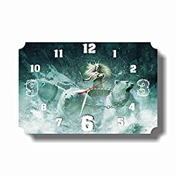 Art time production The Chronicles of Narnia 17'' x 11'' Handmade Unique Wall Clock - Get Unique décor for Home or Office – Best Gift Ideas for Kids, Friends, Parents