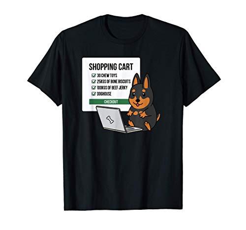 ショッピングカートミニチュア・ピンシャー犬 Tシャツ