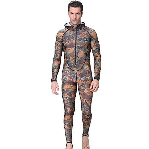 QIMANZI Neuer Taucheranzug Herren Camouflage Camo Neoprenanzug zum Tauchen, Speerfischen und Schwimmen(B Tarnen,2XL)