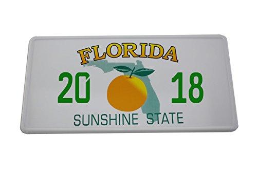 US Auto Kennzeichen STATE LICENSE PLATE Schilder USA Florida mit Wunschprägung (grün)