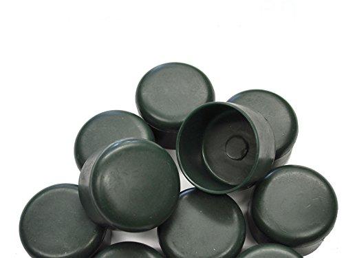 Zaun-Nagel Pfostenkappen passend zum Rohrpfosten Ø 34mm, PVC grün - Paket á 10 Stk.