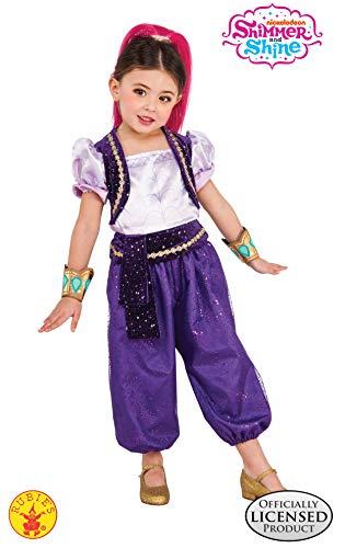 Shimmer & Shine - Disfraz Deluxe violeta para niña, infantil S (3-4 años)...