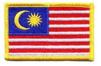 Flaggen Aufnäher Patch Malaysia Fahne Flagge NEU